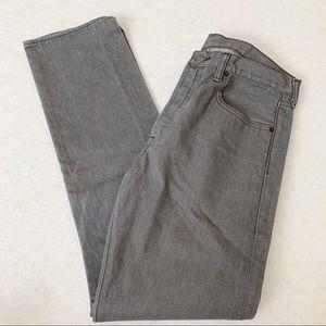 Levi's 501 Straight Leg Gray Denim Jean Pants W33